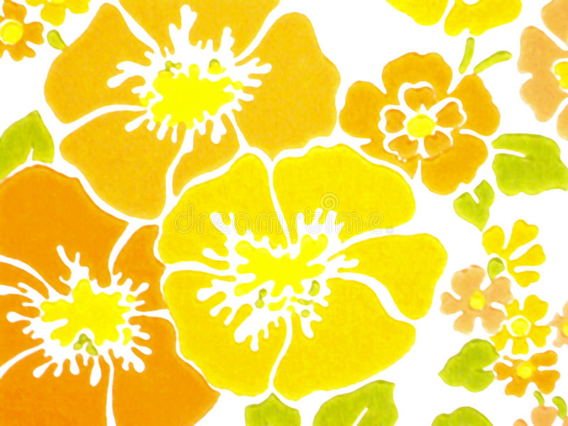 Download Yellow flower stock illustration. Illustration of printed - 120429