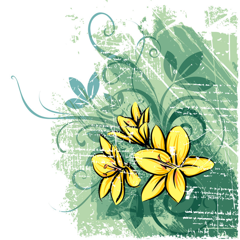 Yellow flower royalty free illustration