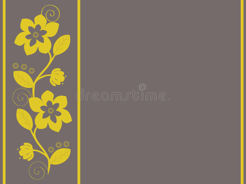 Download Yellow Flower stock vector. Image of foliage, stem, summer - 5024332