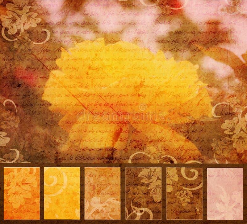 Download Yellow Flower Artistic Grunge Stock Illustration - Illustration: 22053228