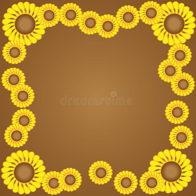 Download Yellow flower border stock vector. Image of frame, space - 23571063