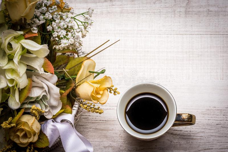 Yellow, Flower, Coffee Cup, Still Life Photography royalty free stock photos