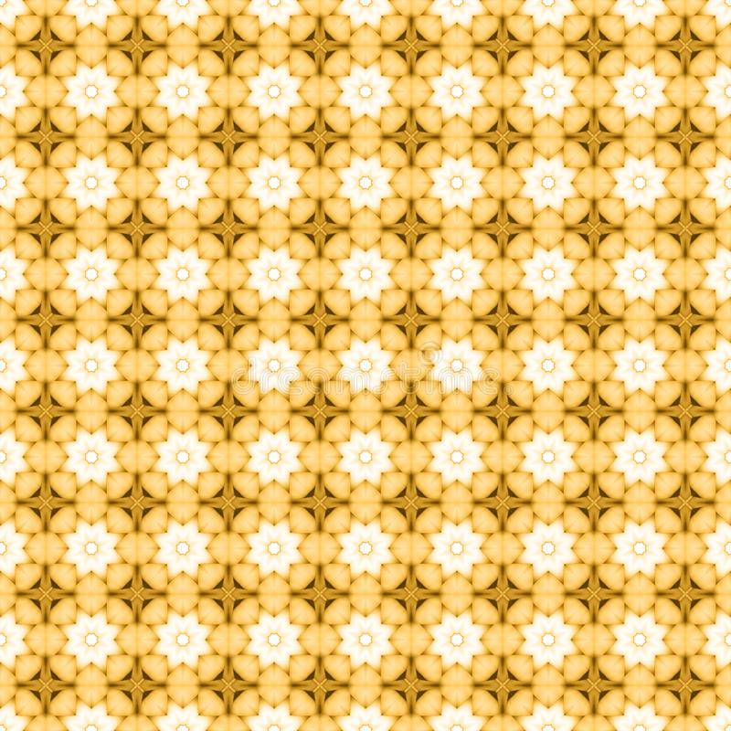 Yellow flower mosaic detailed seamless textured pattern background. Yellow flower mosaic detailed seamless and repeat textured pattern background royalty free stock image