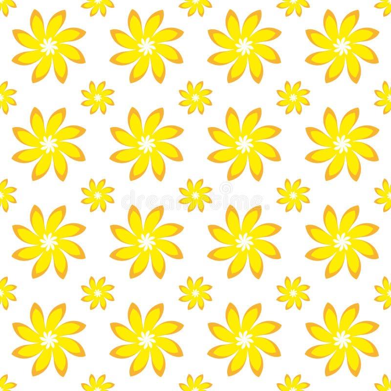 Download Yellow Flower Seamless Pattern Stock Illustration - Illustration: 16484691