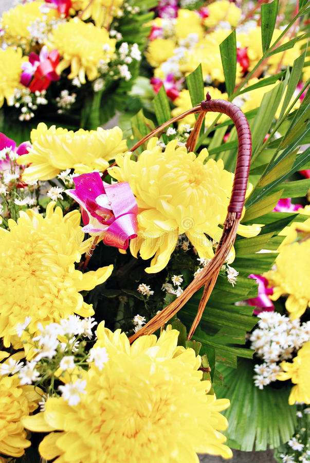 Download Yellow Flowers Bouquet stock image. Image of offering - 25386243