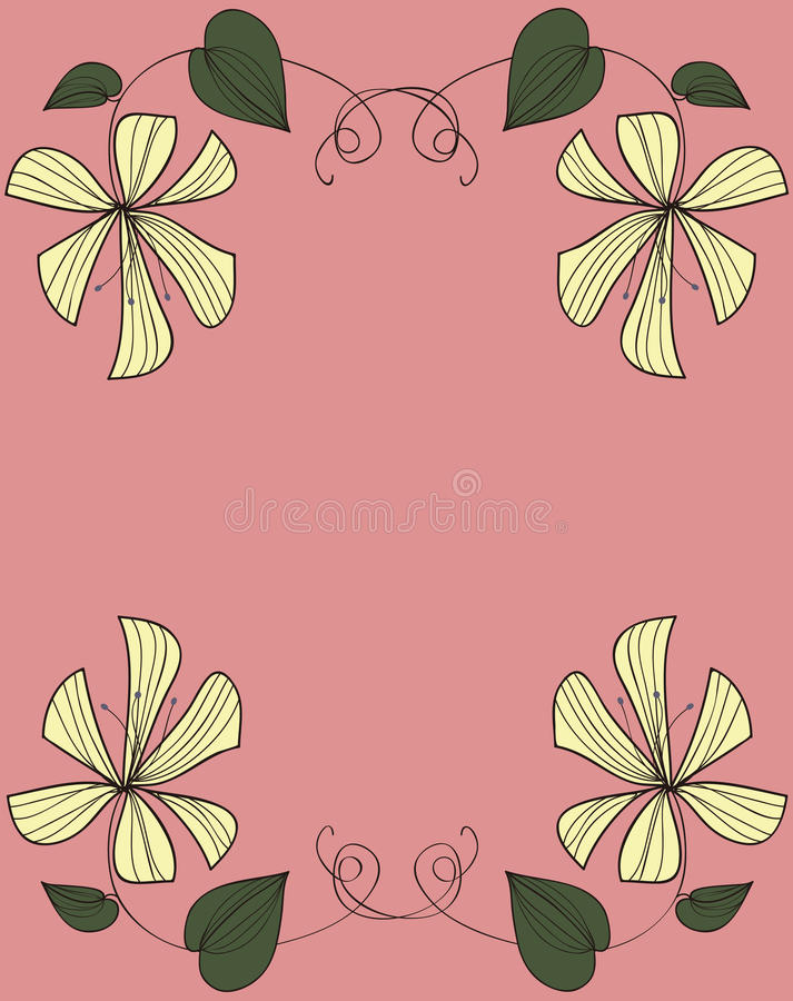 Download Yellow Flowers Frame Design Stock Images - Image: 26971764