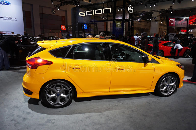 Yellow Ford Fiesta stock photo