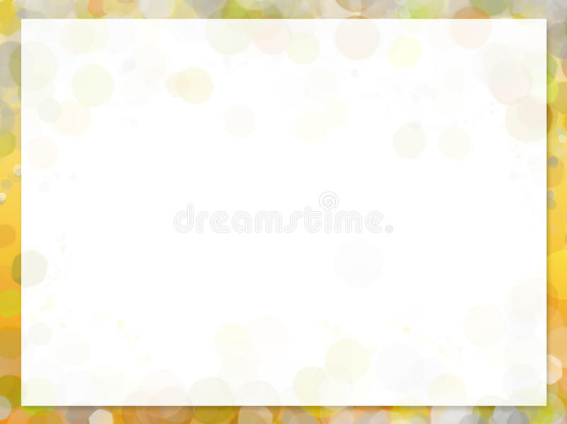 Yellow frame with blur bokeh vector illustration