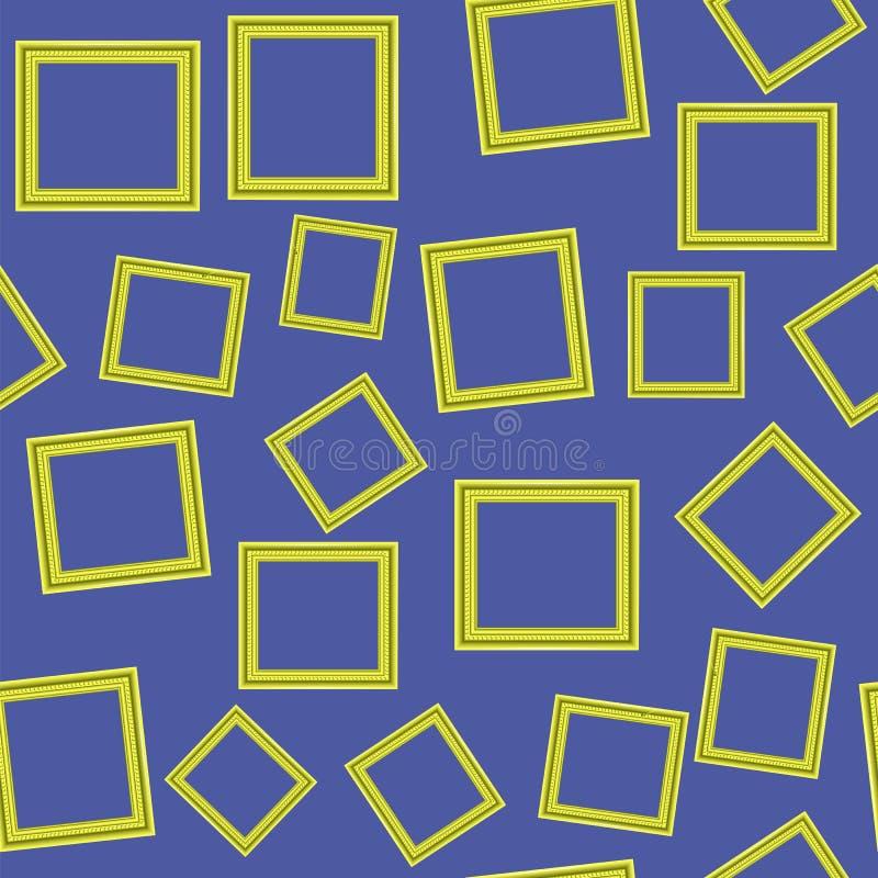 Yellow Frames Seamless Pattern vector illustration