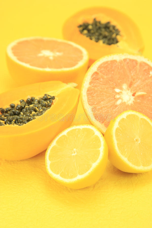 Yellow fruits royalty free stock photography