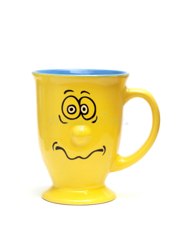 Yellow Funny Cup royalty free stock photo
