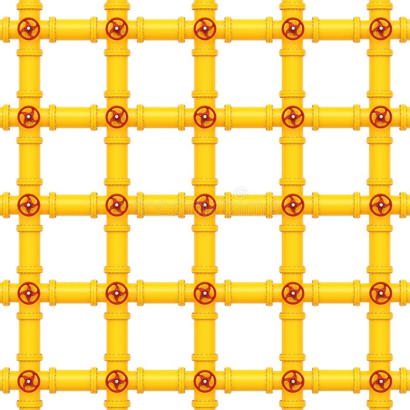 Yellow gas pipes on a white background vector illustration