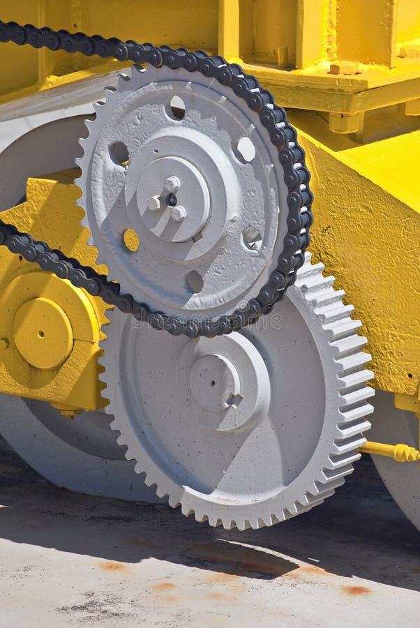 Yellow Gear Machine royalty free stock photo