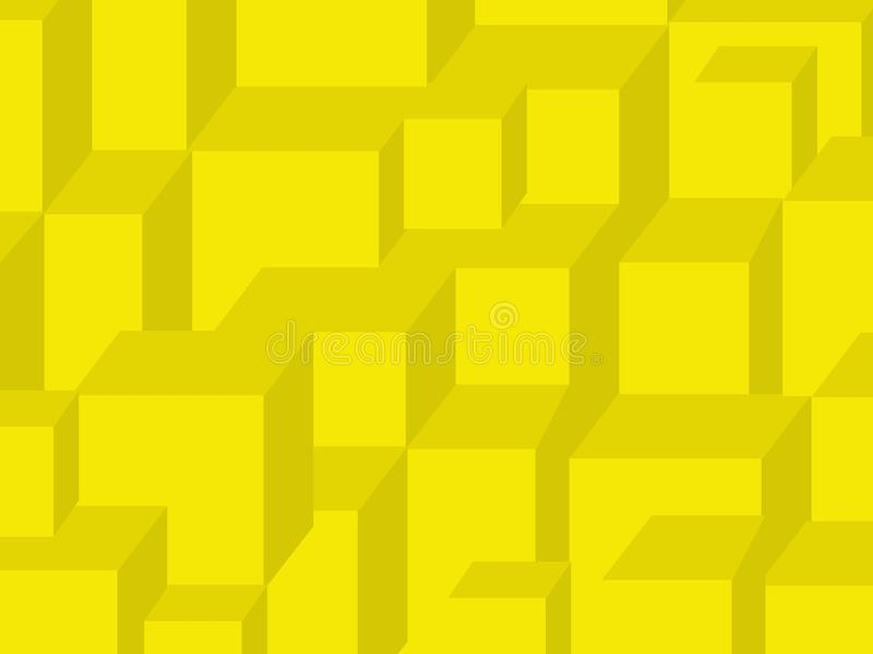 Yellow cubes vector illustration