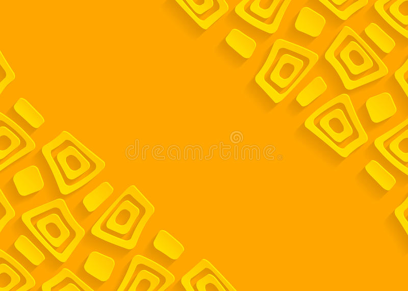 Yellow geometric paper abstract background stock illustration