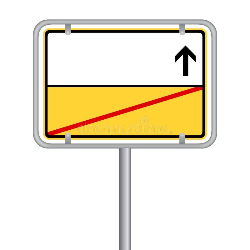 Free Yellow German Street Sign - Ortsschild - Ortsausgangsschild Ohne Text. Isoliert Vektor Eps10. Stock Photos - 112503433
