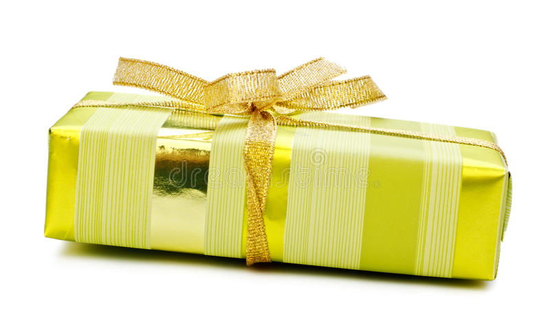 Download Yellow gift box stock photo. Image of gifts, fabric, ribbon - 18211084