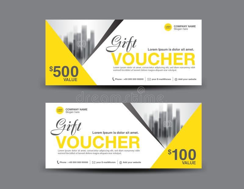 Yellow Gift Voucher Template Layout, Business Flyer Design Stock ...