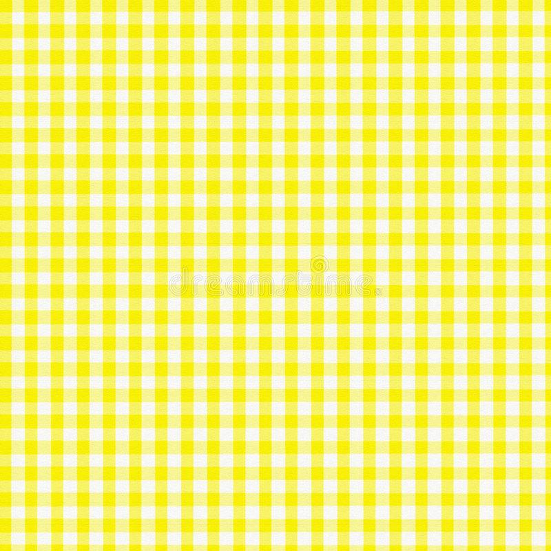 Download Yellow Gingham Royalty Free Stock Images - Image: 611539