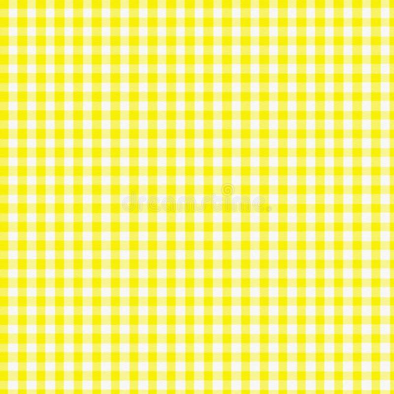 Yellow Gingham stock illustration