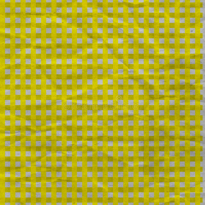 Download Yellow Gingham Crumpled Paper Stock Photo - Image: 25368412