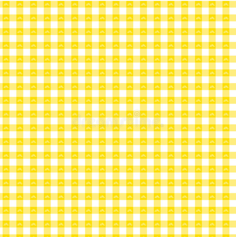 Yellow gingham stock images