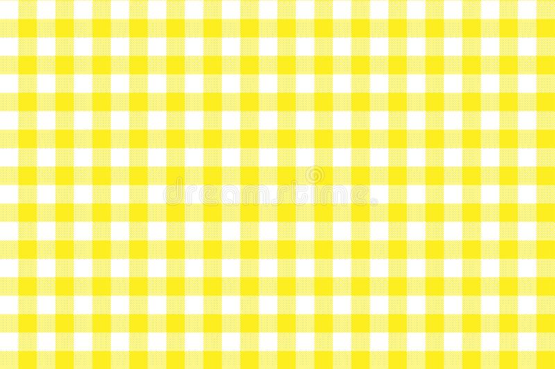 Yellow Gingham pattern. Texture from rhombus/squares for - plaid, tablecloths, clothes, shirts, dresses, paper, bedding, blankets vector illustration