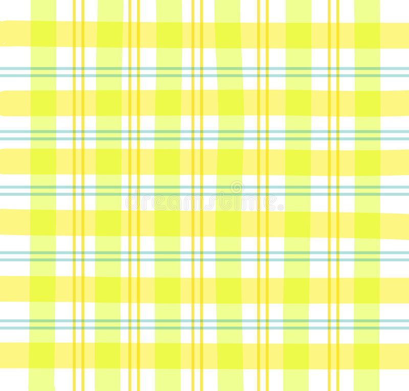Yellow Gingham plaid royalty free illustration