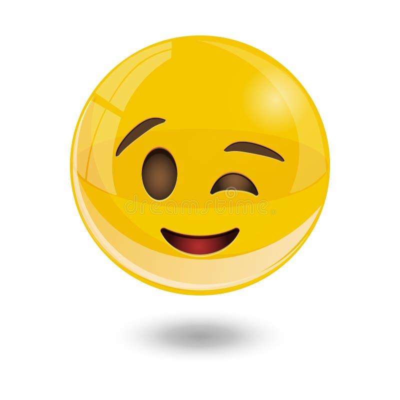 Yellow smiley emoticons, emoji, vector illustration. Yellow glass smiley emoticons emoji, vector illustration royalty free illustration