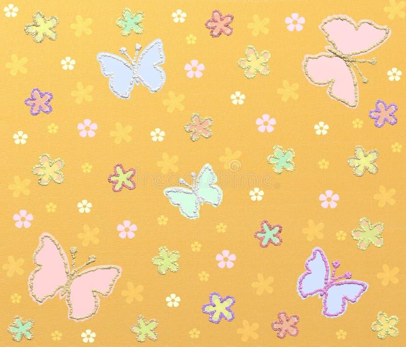 Yellow glitter pattern royalty free illustration