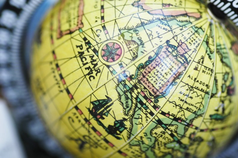 Download Yellow Globe stock image. Image of planet, equator, countries - 197717