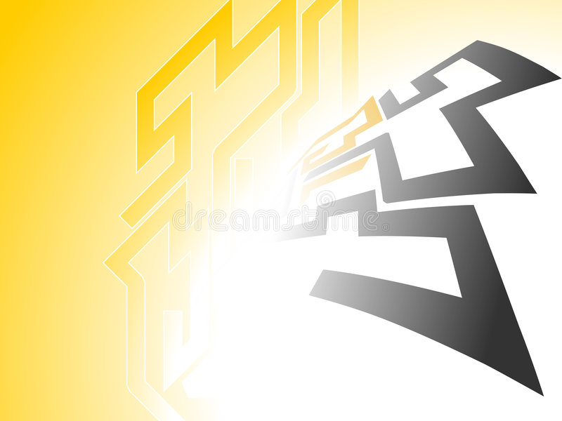 Download Yellow glow Background stock vector. Image of background - 8440066