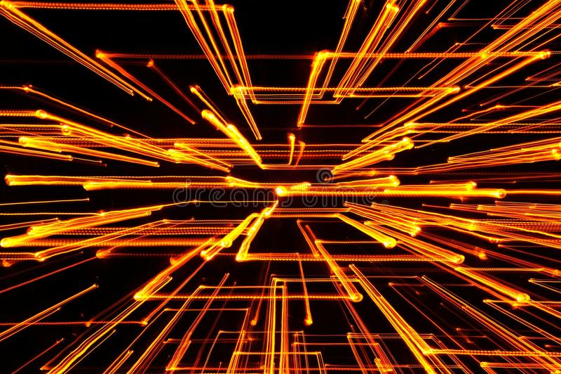 Yellow Glowing Geometric Lines royalty free stock photo