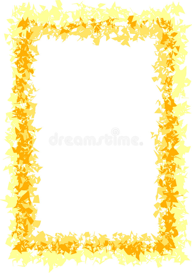 Yellow and Gold Border vector illustration