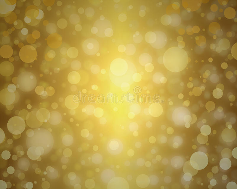 Yellow gold bubble background white Christmas lights blurred background decor elegant celebration design. Beautiful gold background round circle shapes or white
