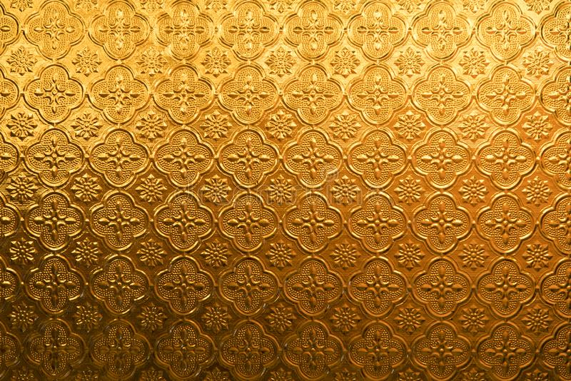 Yellow gold Flower vintage glass for abstract texture and background stock images