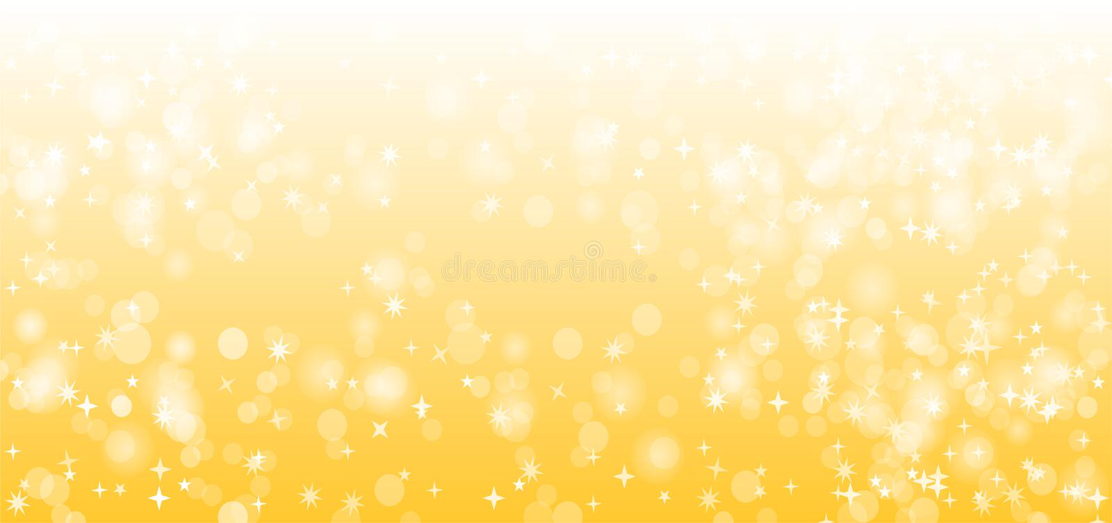 Yellow or Gold Sparkle Vector Background Design royalty free illustration