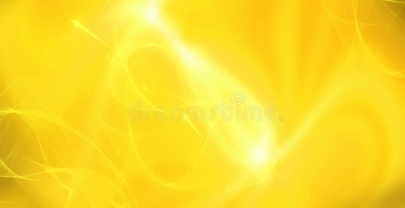 Yellow golden bright flash of light. Motion blur. Decorative vector illustration royalty free illustration