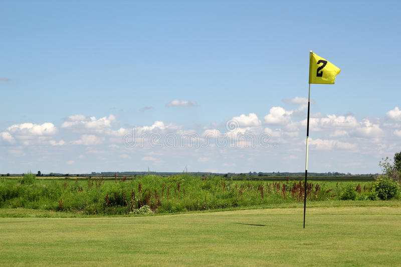 Download Yellow golf flag stock photo. Image of game, activity - 25668868