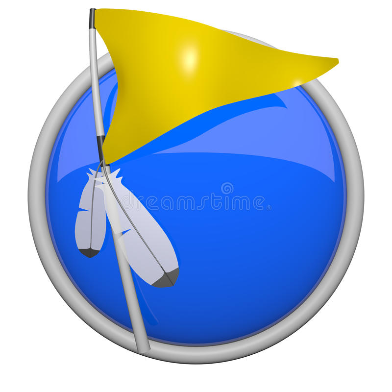 Download Yellow Golf Or Sports Flag With Feathers. Stock Illustration - Illustration: 23191255