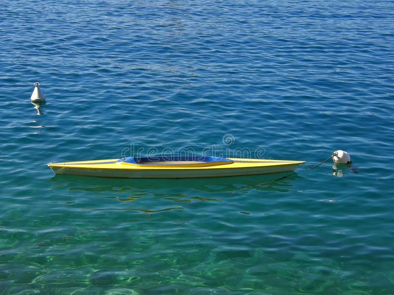 Download Yellow gondola on blue sea stock image. Image of yellow - 10984315