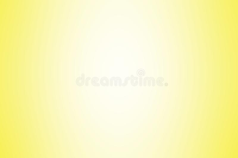 Yellow gradient background color soft light, gradient yellow soft bright wallpaper beautiful, yellow picture gradient hue soft. The yellow gradient background stock illustration