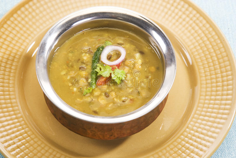 Yellow Gram & Split Black Lentils Curry. Maa Chole Ki Dal or Yellow Gram & Split Black Lentils Curry, Indian Dish stock photography
