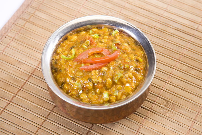 Yellow Gram & Split Black Lentils Curry. Maa Chole Ki Dal or Yellow Gram & Split Black Lentils Curry, Indian Food royalty free stock photography
