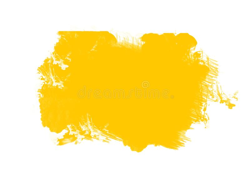 Color patches graphic brush strokes design effect element for background. Yellow graphic color patches brush strokes effect background designs element royalty free illustration