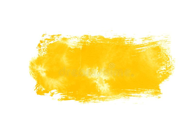 Color patches graphic brush strokes design effect element for background. Yellow graphic color patches brush strokes effect background designs element royalty free stock image