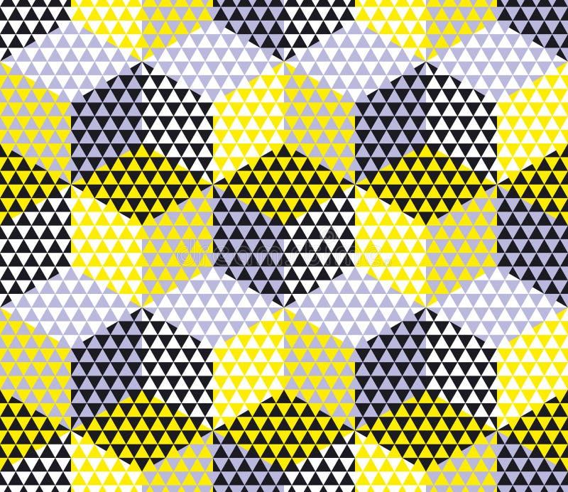 Yellow And Gray Geometry Hexagon Seamless Fabric Stock Vector ...