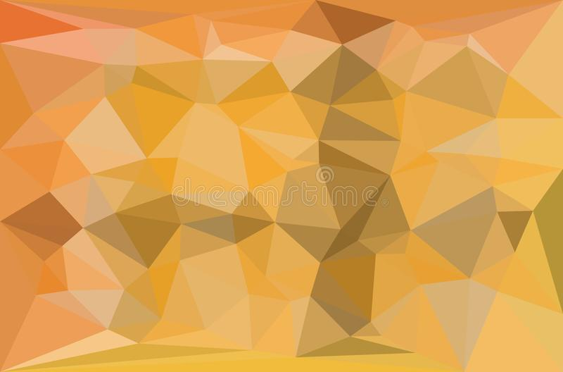 Yellow and gray triangular pattern - triangles mosaic. Vector illustration stock illustration
