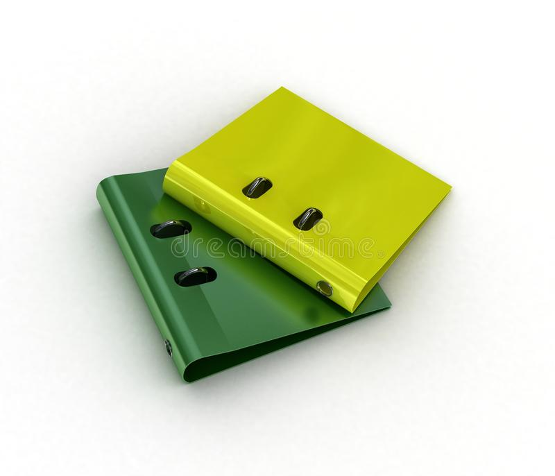 Download Yellow , Green File , Binder Royalty Free Stock Photography - Image: 10514837