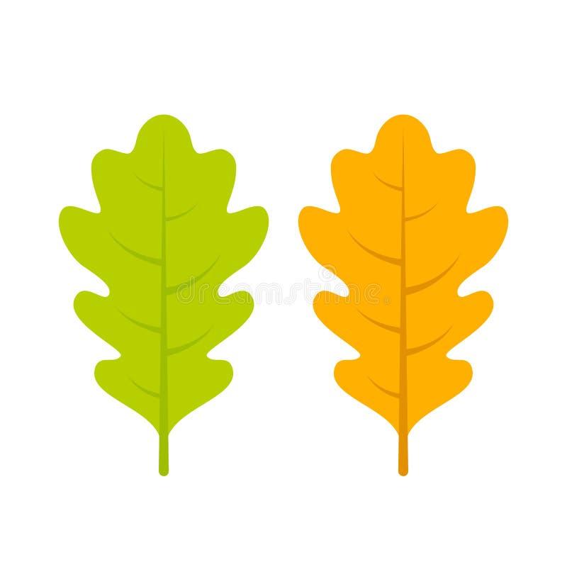 yellow and green oak leaf vector icon stock vector illustration of rh dreamstime com oak leaf vectorial oak leaf vectorial